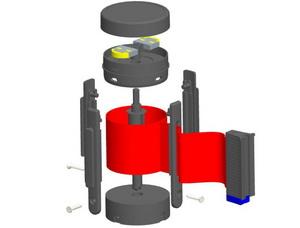 Механизм тормоза катушки стоек BarrierBelt